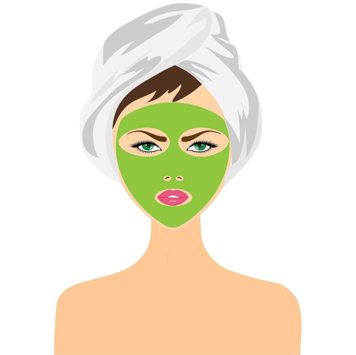 masque visage avocat