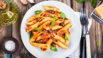pâtes italiennes sauce tomate et fromage