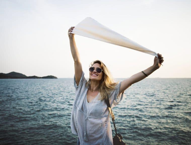 bonheur joie mer plage