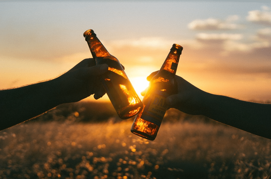 alcool, bière, jeunes, soleil