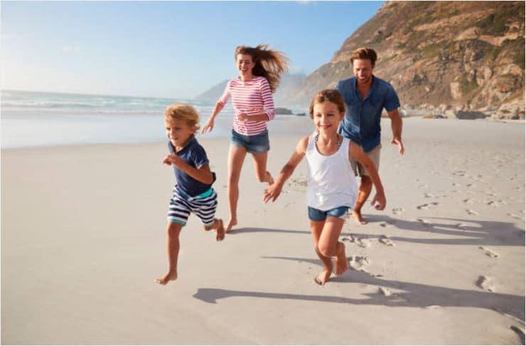 famille enfants plage