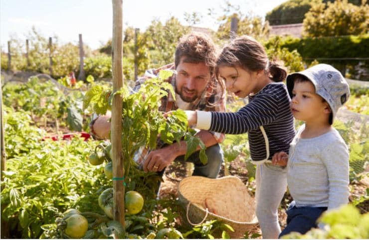 famille jardin vivre à la campagne
