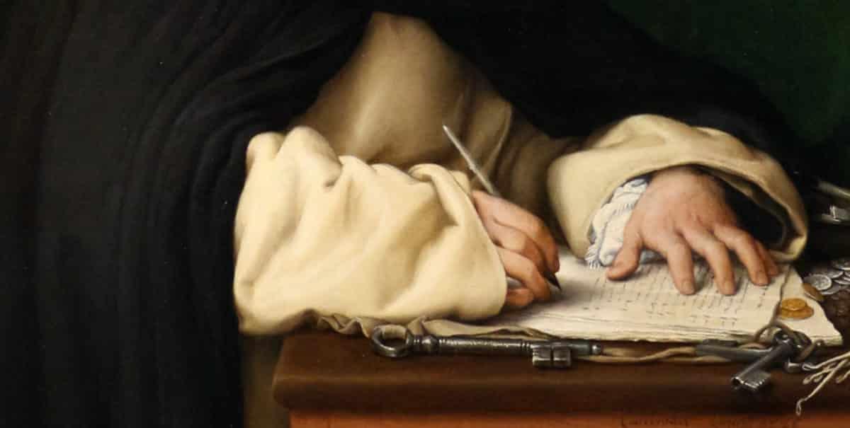Lorenzo Lotto, Portrait of Frà Marcantonio Luciani of the Dominicans ©Wikimedia