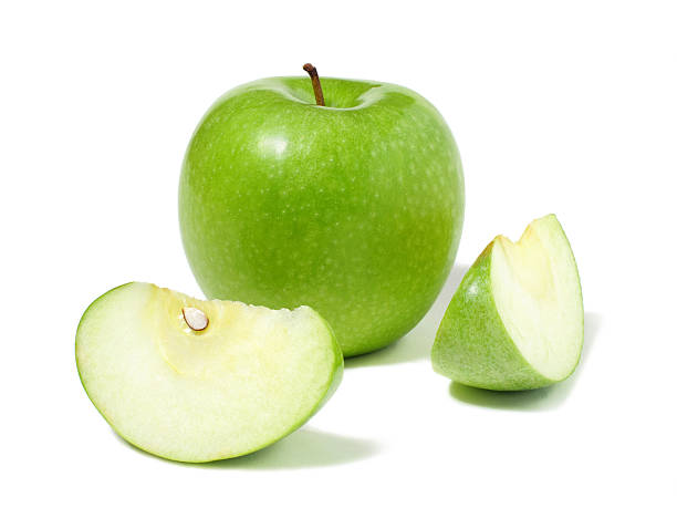 Green apple isolated on white.For other fruit see the lightbox: