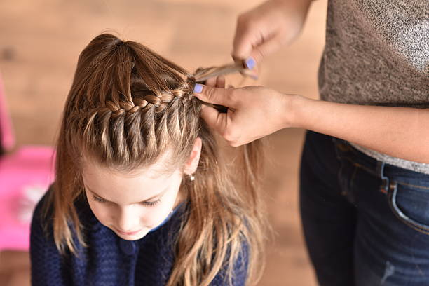 portrait of girl braid hair