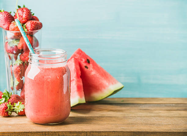 jus pastèque fraise detox naturel