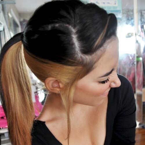 cheveux bicolore